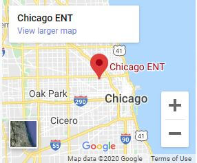 Map of the Chicago ENT Bucktown Location