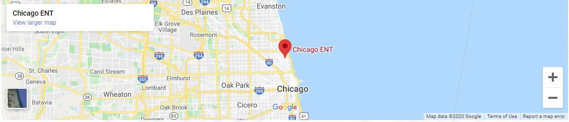 Map of the Chicago ENT Lincoln Park Location