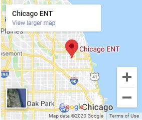 Map of the Chicago ENT Chicago North Location