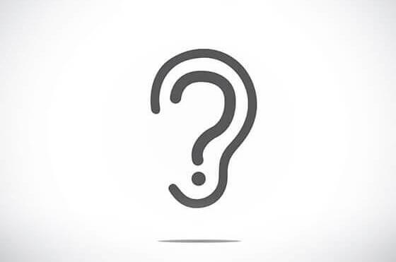 Question mark in ear