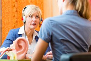 Woman receiving a Hearing Test