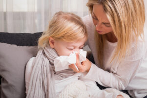child with a cold