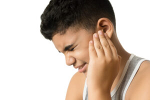 Child suffering from an ear infection