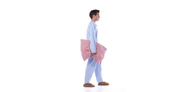 Man sleep walking